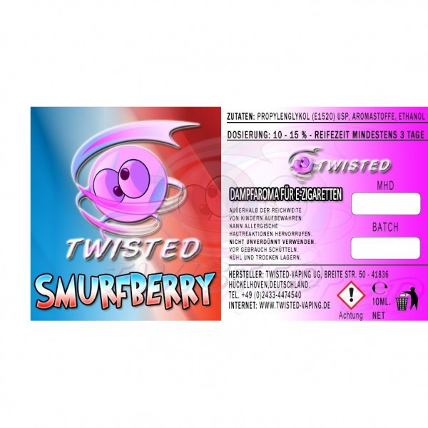 TWISTED Aroma SMURFBERRY