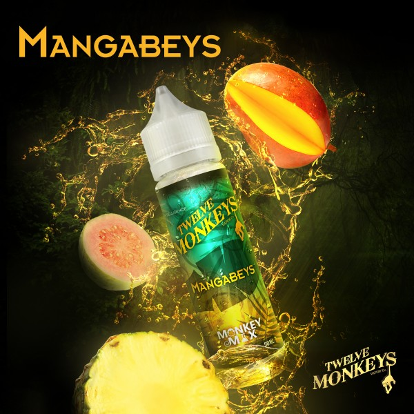 12 Monkeys 50ml MANGABEYS OVERDOSED - E-Liquid made in CANADA