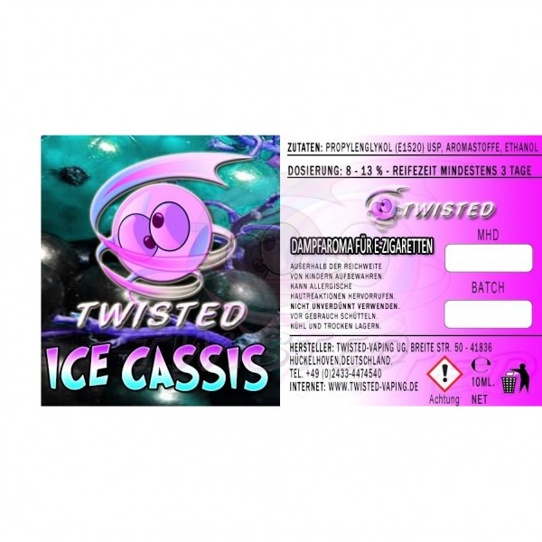 TWISTED Aroma ICE CASSIS