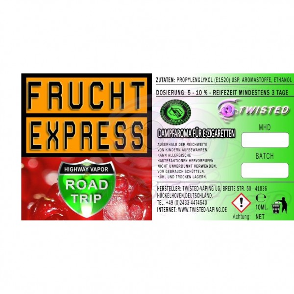 TWISTED Aroma ROAD TRIP AROMA FRUCHT-EXPRESS