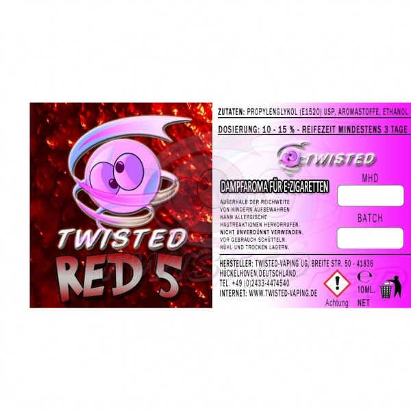 TWISTED Aroma RED 5