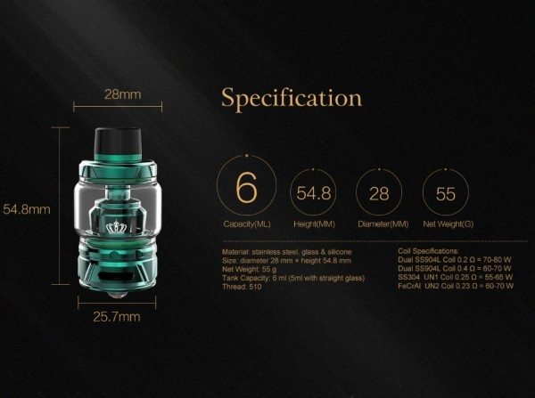 CROWN IV Subohm Clearomizer - Original UWELL
