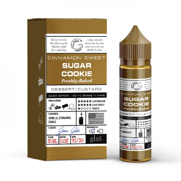 GLAS BASIX SUGAR COOKIE 50ml OVERDOSED E-Liquid Made in USA