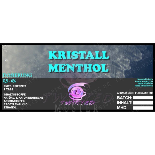 TWISTED Aroma KRISTALL MENTHOL